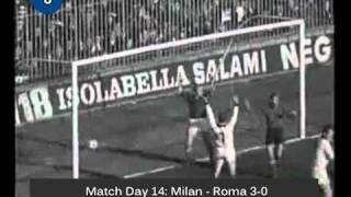 Italian Serie A Top Scorers: 1967-1968 Pierino Prati (Milan) 15 goals