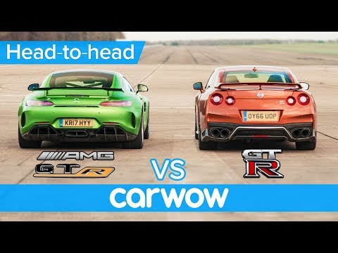 Mercedes-AMG GT R vs Nissan GT-R: DRAG RACE, ROLLING RACE & BRAKE TEST | Head-to-Head