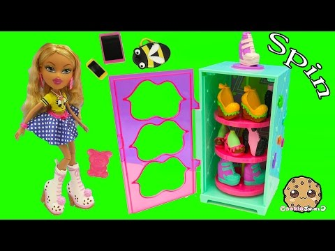 Shoes Display Case + Spinner & Bratz Doll Raya With Fast Food Burger Shoes - Cookieswirlc