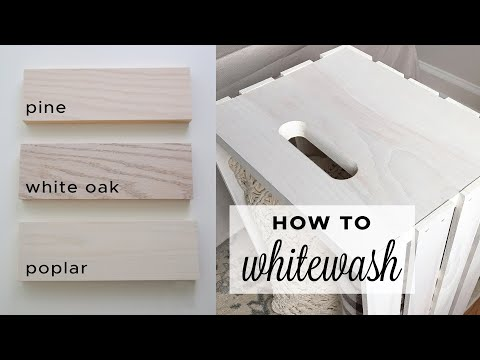 How to Whitewash Wood with Paint | How to Make Whitewash Paint