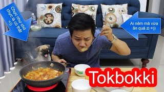 🍯Thử Làm Và Ăn Bánh Gạo Cay Hàn quốc - TOKBOKKI - Nấu Ăn Cùng Chó Pug Siêu Vui Nhộn =)) - PK