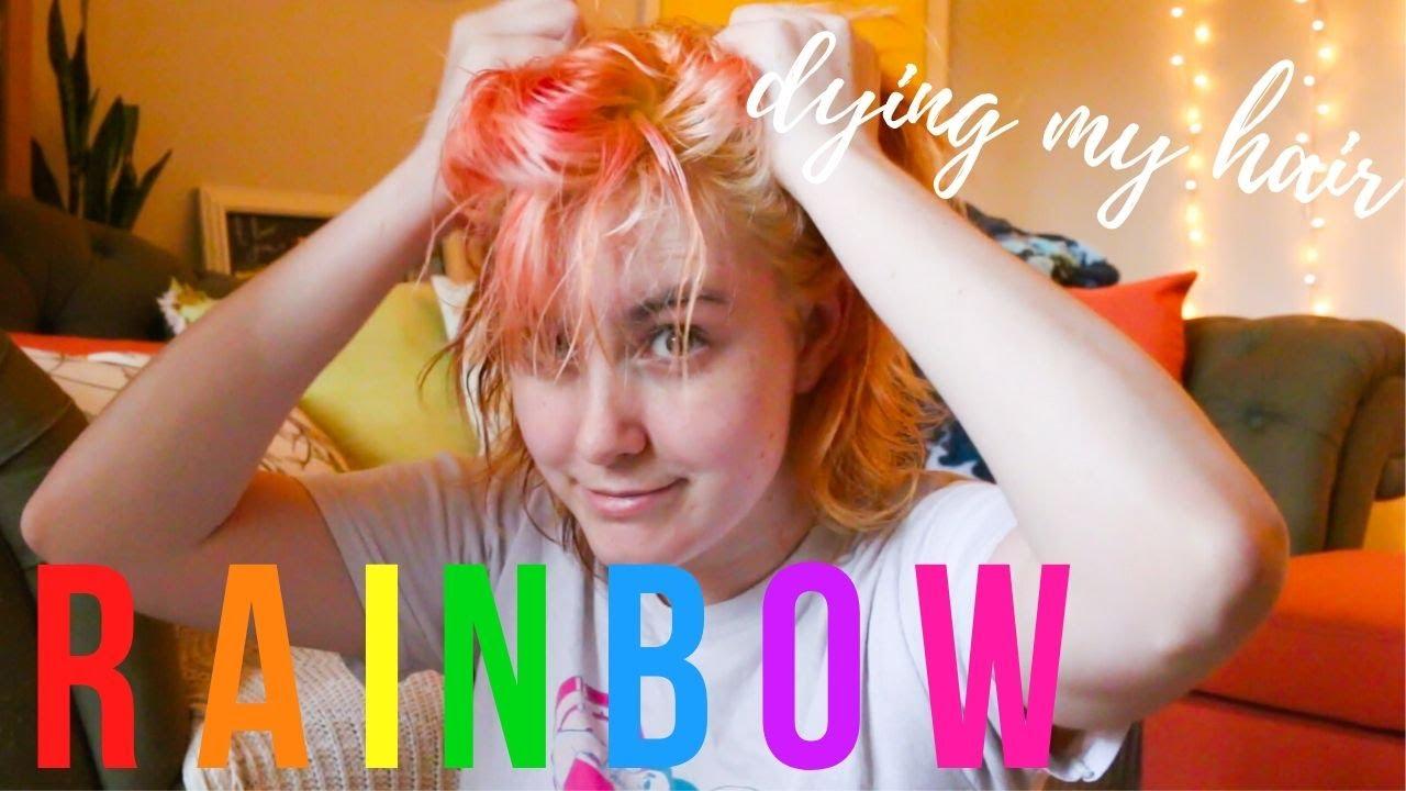 Guilian dyes their hair...RAINBOW!