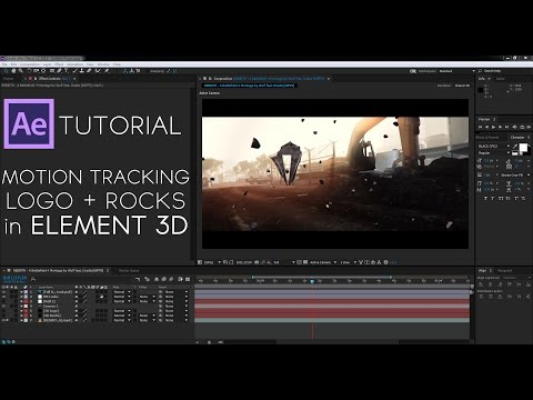 After Effects Tutorial   Motion Tracking A Logo + Rocks With Element 3D