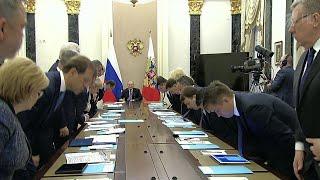 Владимир Путин провел в Кремле совещание с членами правительства.