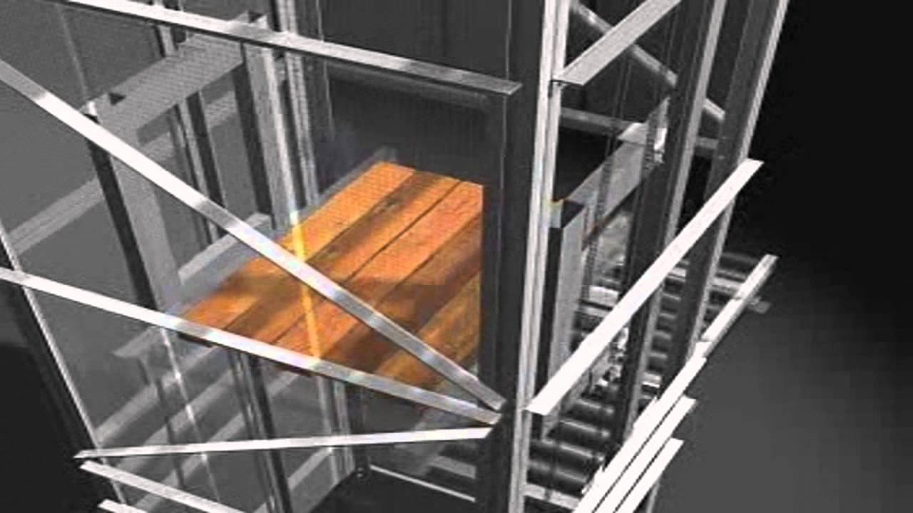 Single Pallet Elevator Invata Intralogistics Youtube