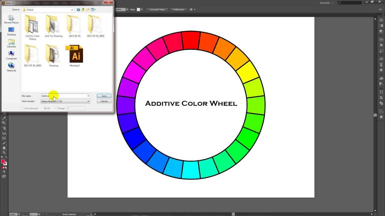 How To Create An Additive Color Wheel In Adobe Illustrator