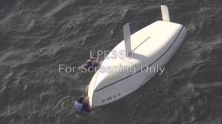 Capsized Sail Boat Rescue