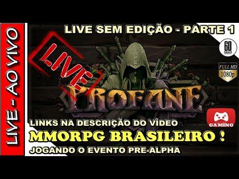 🔴 JOGANDO PROFANE #1 - O MMORPG SANDBOX CRIADO POR BRASILEIROS - 2º EVENTO JOGÁVEL ALPHA