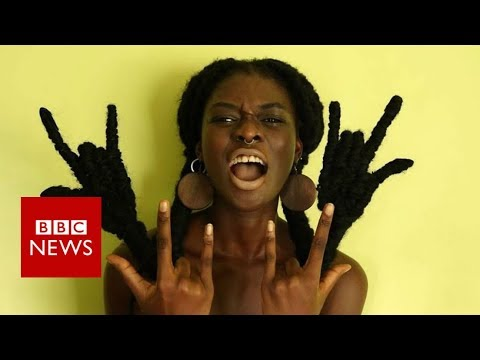 Could you make art out of your hair? - BBC News