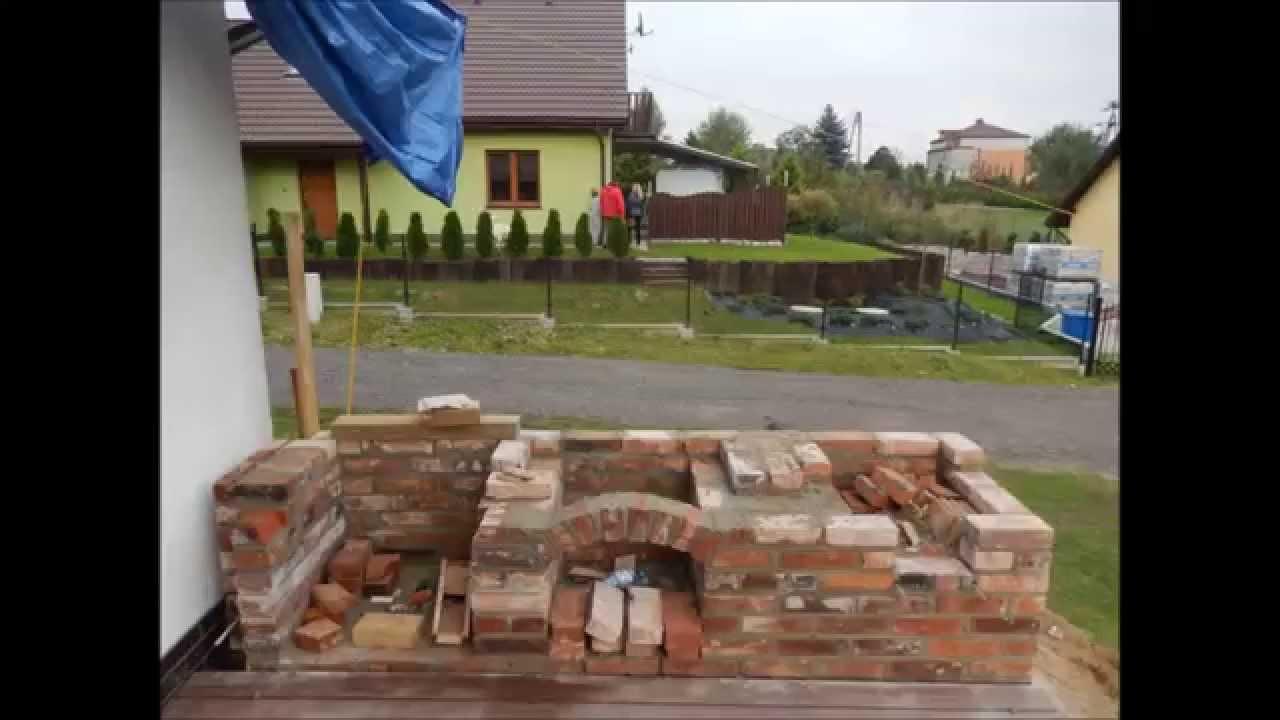Budowa Grill murowany, wędzarnia, płyta fajerkowa Kuchnia   -> Kuchnia Kaflowa Schemat Budowy