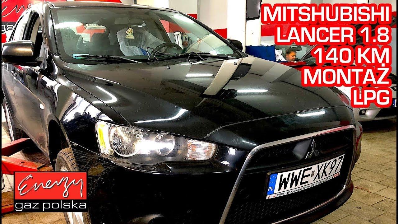 Montaż LPG Mitsubishi Lancer z 1.8 140 KM 2009r w Energy Gaz Polska na gaz BRC