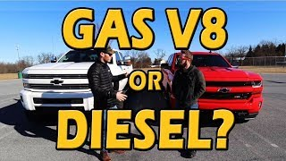 WHICH IS BETTER? Diesel vs Gas V8 | Truck Central