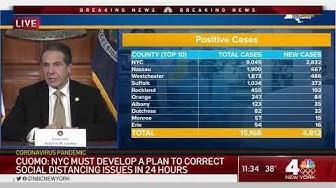 New York Tops 15,000 Cases of Coronavirus, NYC Tops 9,000
