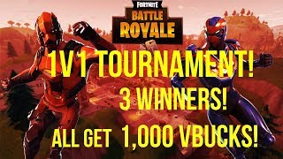 1v1 Fortnite Tournament! Right Now! Winners Get Free V Bucks! ( Sub Count 434/450)