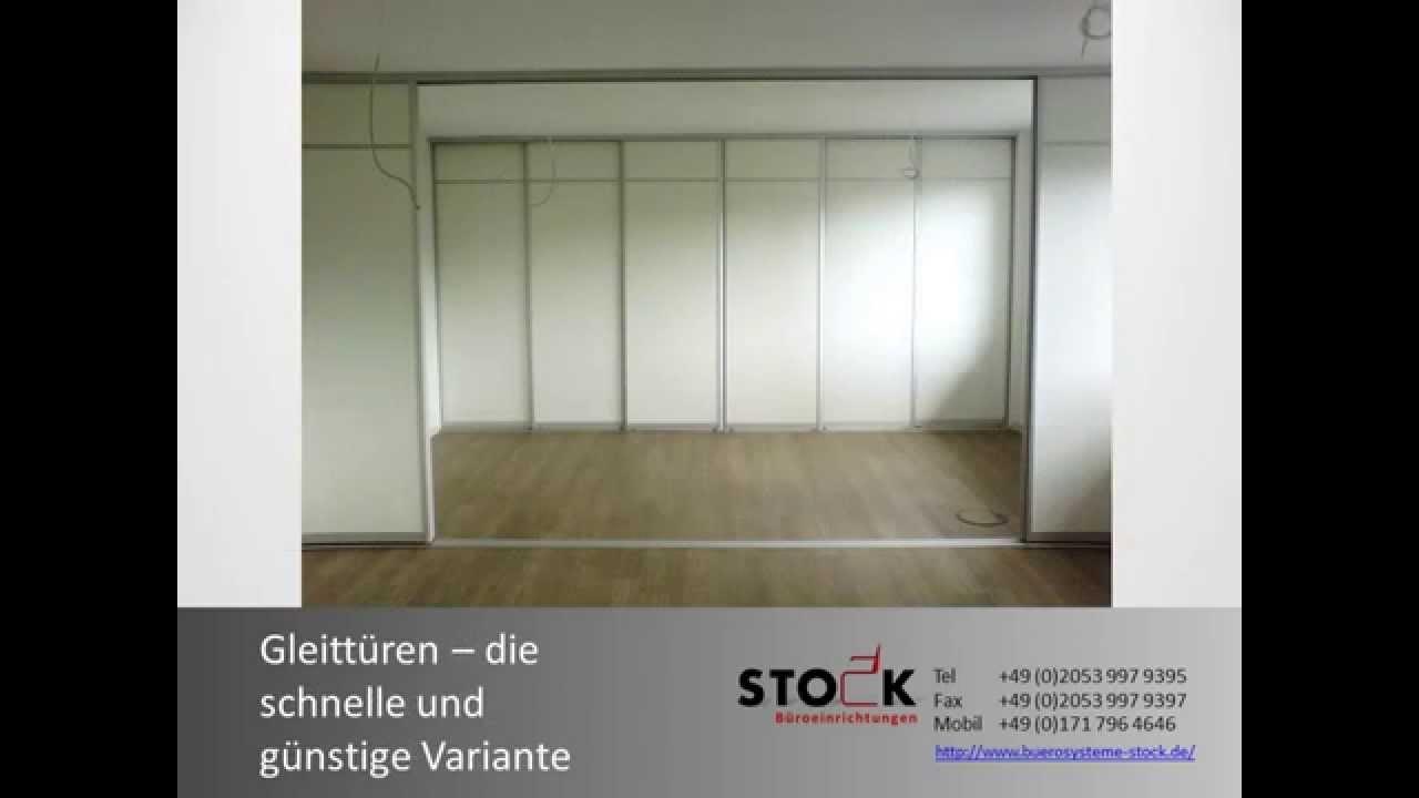 stock gleitt ren b row nde b roraumteiler trennw nde im. Black Bedroom Furniture Sets. Home Design Ideas