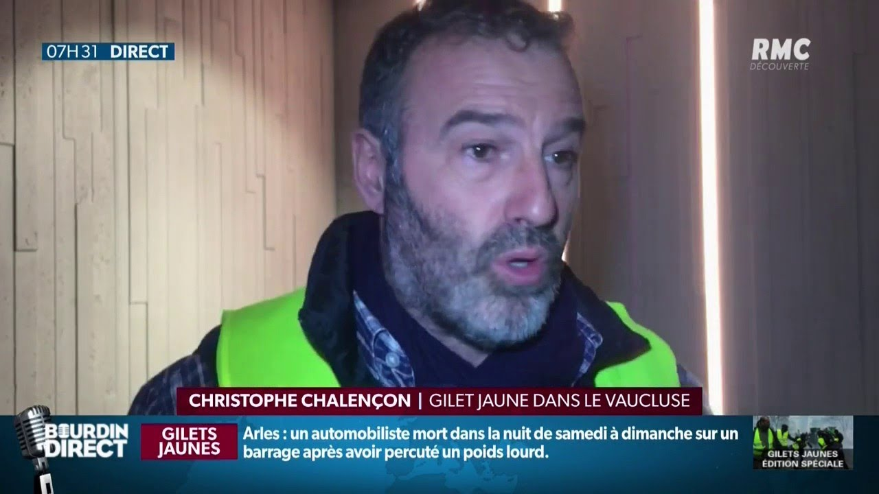christophe chalen on gilet jaune dans le vaucluse compte bien rencontrer le premier ministre. Black Bedroom Furniture Sets. Home Design Ideas