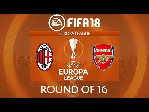 FIFA 18 AC Milan vs Arsenal | Europa League 2017/18 | PS4 Full Match