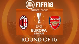FIFA 18 AC Milan vs Arsenal | Europa League 2017/18 | PS4 Full Match