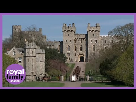 King's Troop Royal Horse Artillery Arrive at Windsor for Prince Philip's Funeral