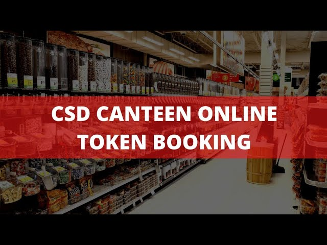 CSD Canteen online token booking process in Hindi