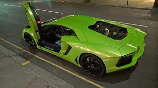Verde Ithaca Lamborghini Aventador LP700 w/ Titanium Exhaust!