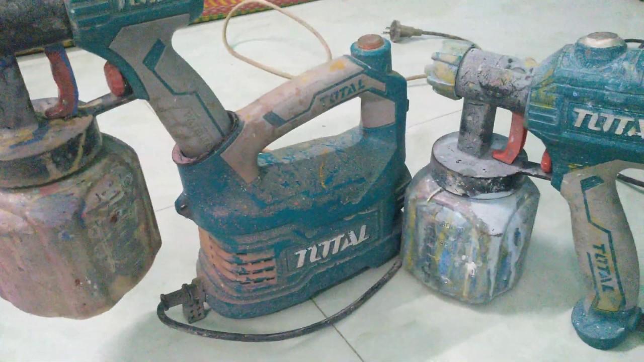 Chia sẻ máy phun sơn total điện 350w và 500w sau 1 năm sử dụng.