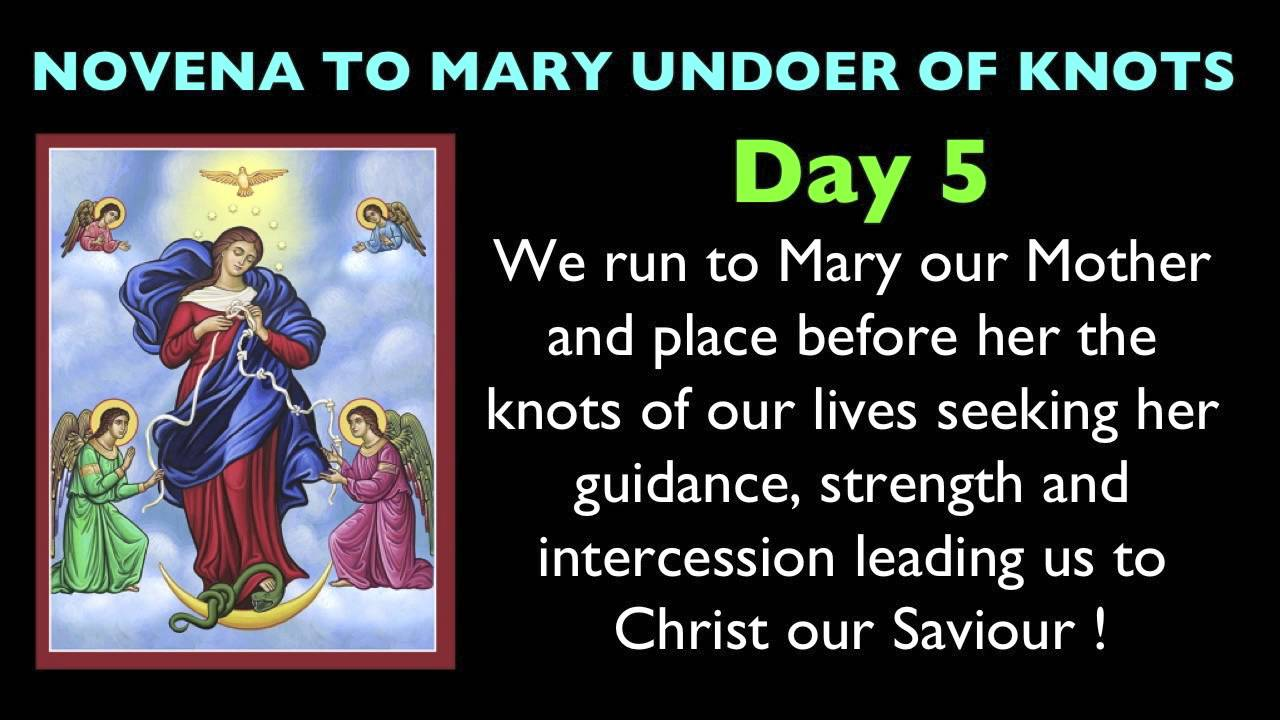 Mary Undoer of Knots Novena Day 5 - YouTube