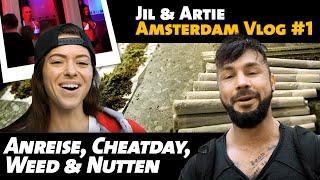jil artie amsterdam vlog 1 anreise cheatday weed prostitution