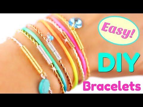 5 DIY Bracelets EASY DIY Bracelet tutorial   Handmade Bracelets