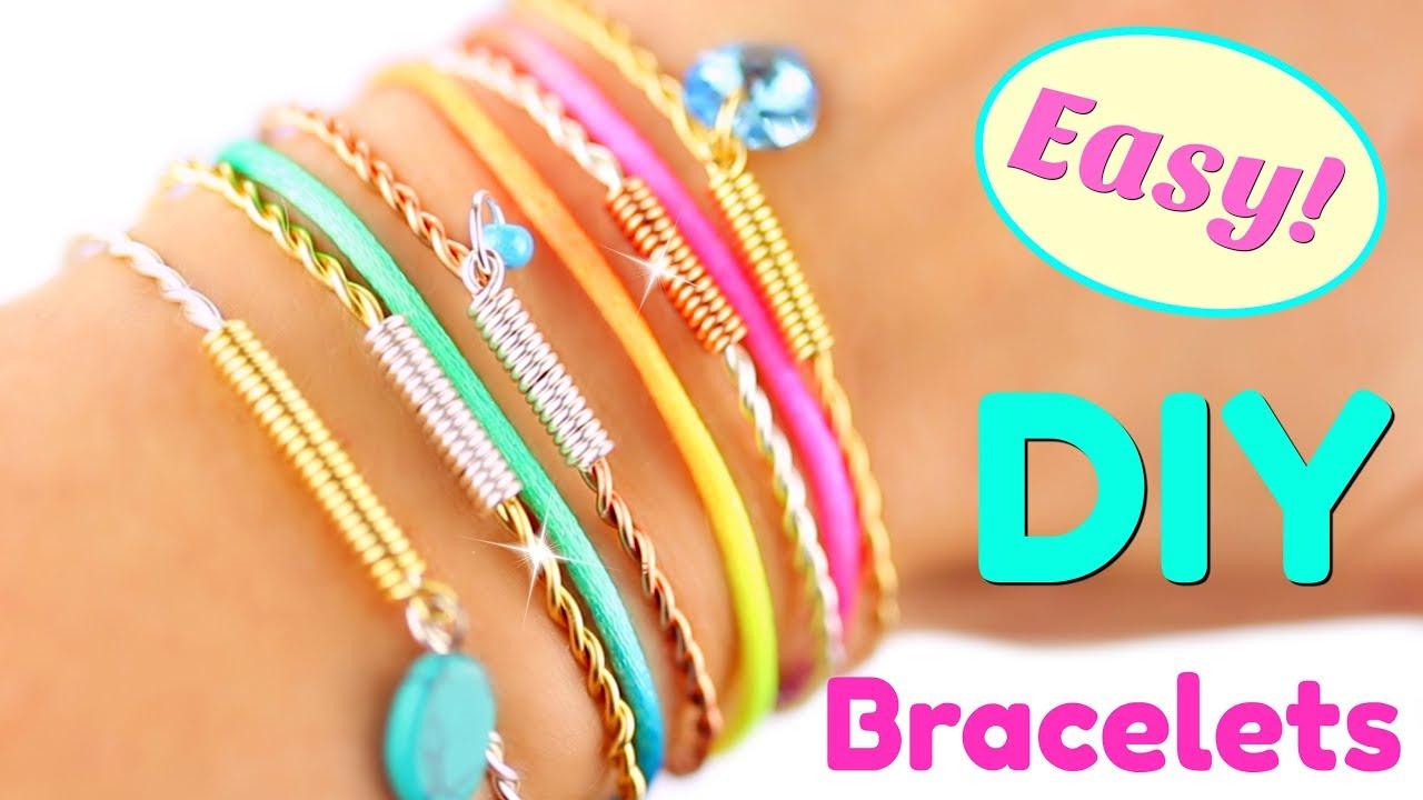 5 Diy Bracelets Easy Bracelet Tutorial Handmade