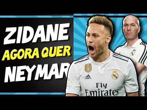B00MBA! Zidane admite contar com Neymar no Real Madrid - Transferências 2019
