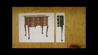 Curved Blockfront Dressing Table   Making Drawings   Step 1