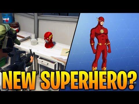 *NEW* THE FLASH SUPERHERO? Fortnite Battle Royale Secret Superhero Skin?