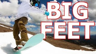 Top 5 Snowboards for BIG FEET