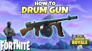 How To Use The Drum Gun In Fortnite! | New Weapon Tips!