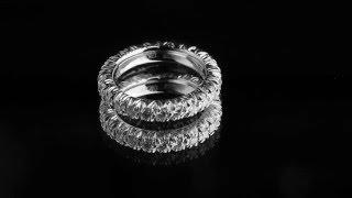 Обручальное кольцо из белого золота с бриллиантами 1 карат(6,36 г., золото 750 пробы, бриллианты 1 карат, цвет 2-3, чистота 3-5., 2016-02-16T18:20:51.000Z)