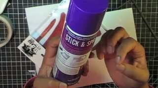 Quick Tip Monday Ep2 - Temporary adhesive with unmounted rubber stamps