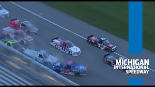 Multiple trucks involved in crash on frontstretch at Michigan | NASCAR