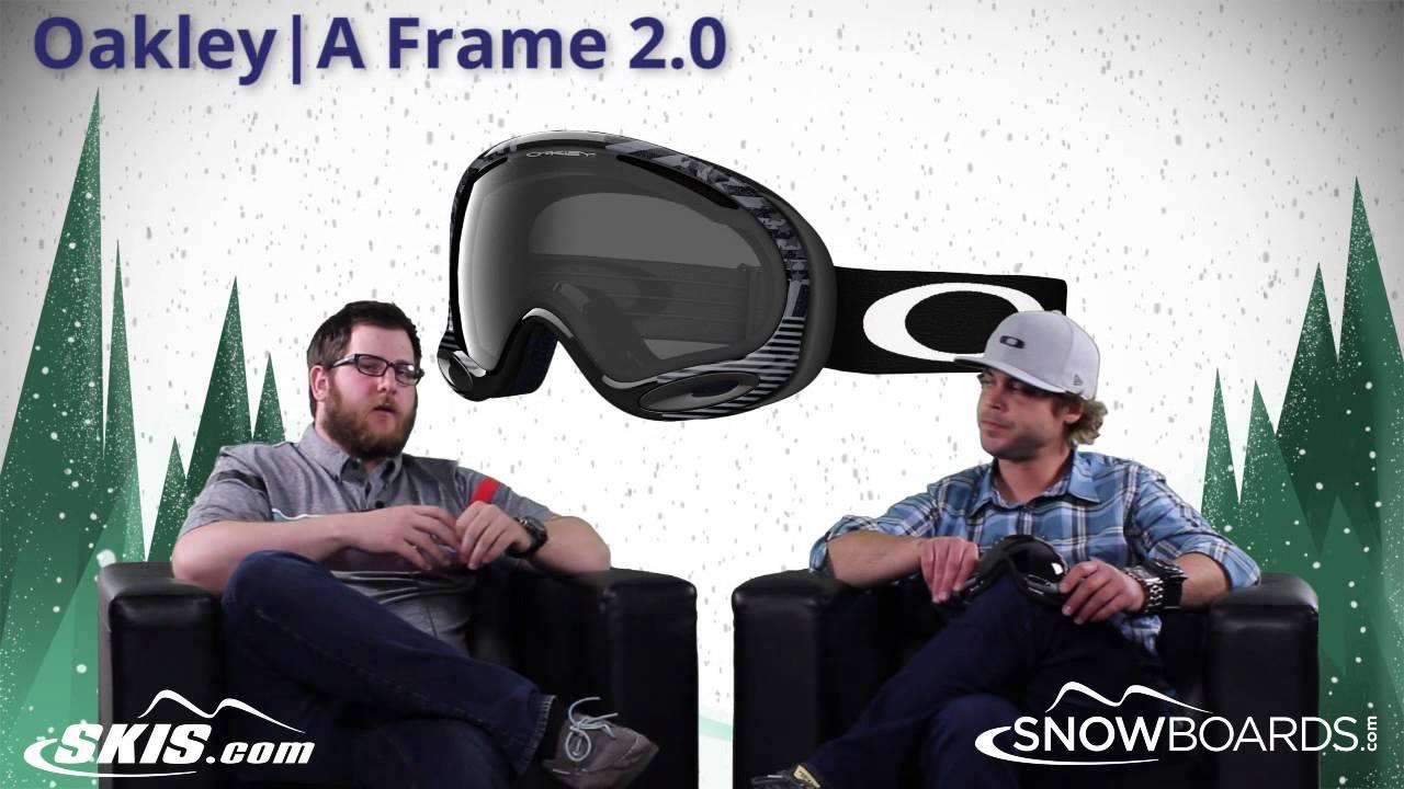 2017 Oakley A Frame 2 0 Goggle Overview By Skisdotcom And Snowboardsdotcom Youtube