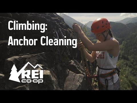 Rock Climbing: Cleaning a Top Rope Anchor