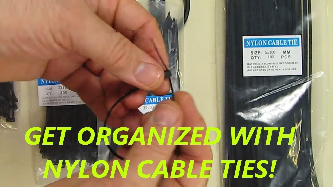Eboot 400 Pieces Nylon Cable Ties Kit 4 Inches 6 Inches