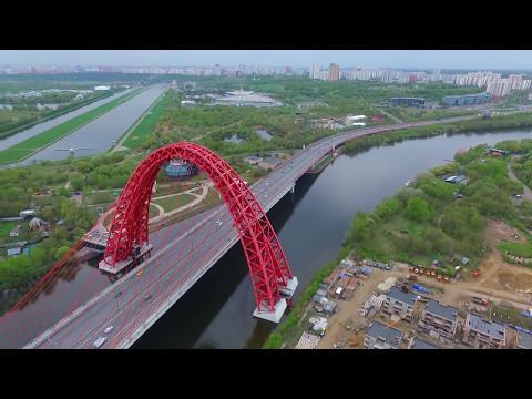Живописный мост и заброшенный ресторан-НЛО. Полёт над городом. часть 2