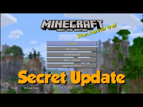 Minecraft Xbox One Edition Just Received An Update? What??