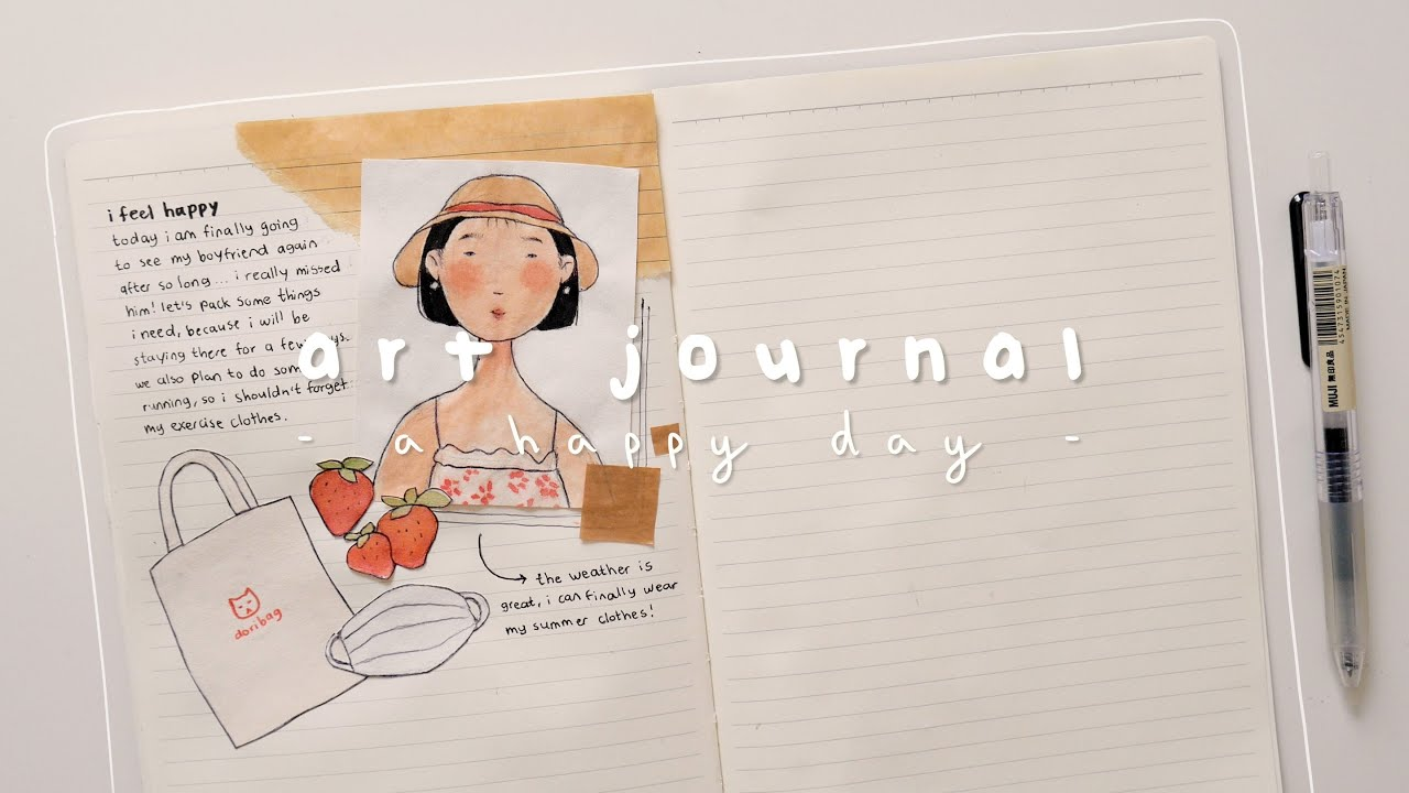🍓 art journal with me ∣ the happiness of seeing someone again 。