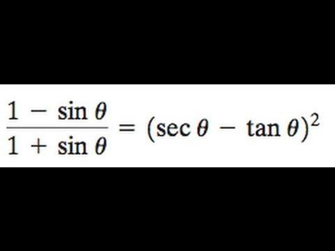 (1 - sin)/(1 + sin) = (sec - tan)^2