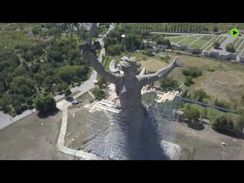 'The Motherland Calls': Largest Sculpture Of Russia Undergoes Reconstruction