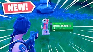 "Fortnite Bottle Rockets GAMEPLAY! *NEW* ""Bottle Rockets"" In Fortnite Battle Royale! (NEW Item)"
