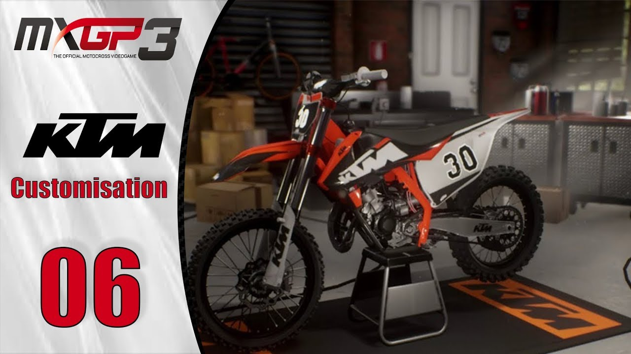 mxgp 3 ktm 125 sx customisation fr test ps4 xbox one. Black Bedroom Furniture Sets. Home Design Ideas