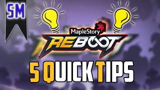MapleStory Reboot: Five Quick Tips!