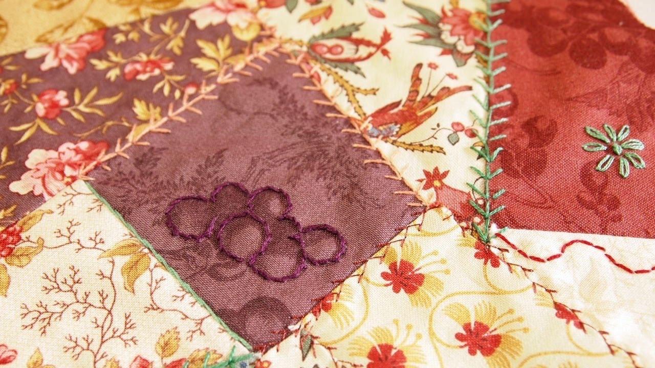 How to Sew a Crazy Quilt Square Using Your Sewing Machine - YouTube : how to sew a crazy quilt - Adamdwight.com
